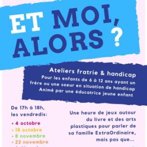 Atelier fratrie et Handicap (Salon de Provence 13) @ Médiathèque Salon de Provence