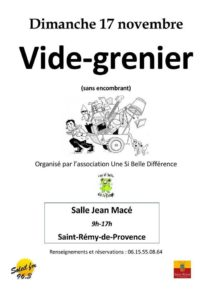 Vide Grenier @ Salle Jean Macé Saint Rémy de Provence
